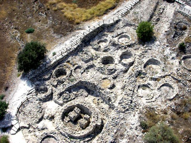 Khirokitia Kypros - aerial view