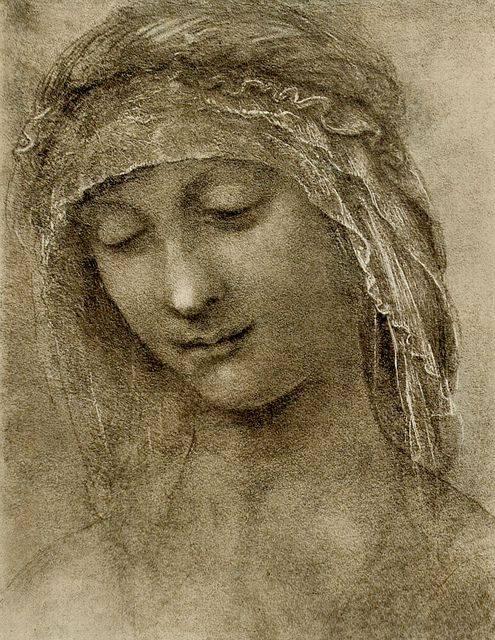 1500 Leonardo da Vinci - Study for the head of Saint Anne