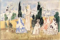 Constantinople - Femmes au cimetière