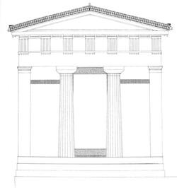 façade avec décor anthemion