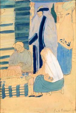 'Constantinople Le vendeur d'étoffes