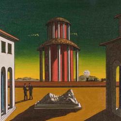 De Chirico, piazza, 1955