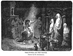 Pythia speaking at Delphi