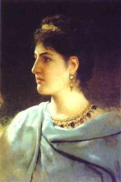 Portrait d'une romaine 1890