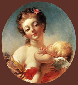 1760 venus & Cupidon Fragonard