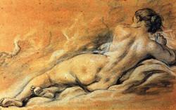 1769 Femme nue étendue sur côté
