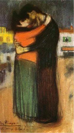 1900 Les amants dans la rue