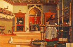 1502 St-Augustin dans son bureau