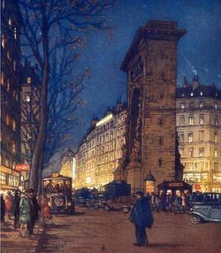 Boulevard Saint Denis le soir 1916