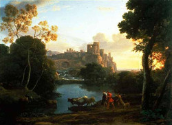 1644 Tivoli au coucher du soleil