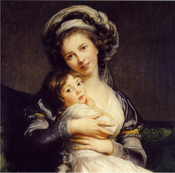 Self-Portrait in a Turban with Her Child - 1786