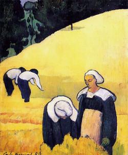 La Moisson d'un champ de blé 1888