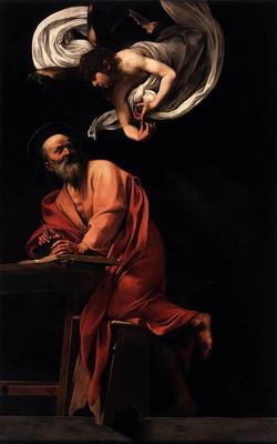 The Inspiration of Saint Matthew,1602