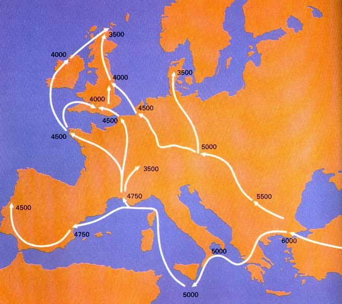 carte Europe migrations