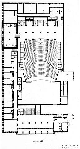 Auditorium bldg plan