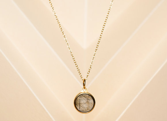 The Black Rutilated Quartz Necklace
