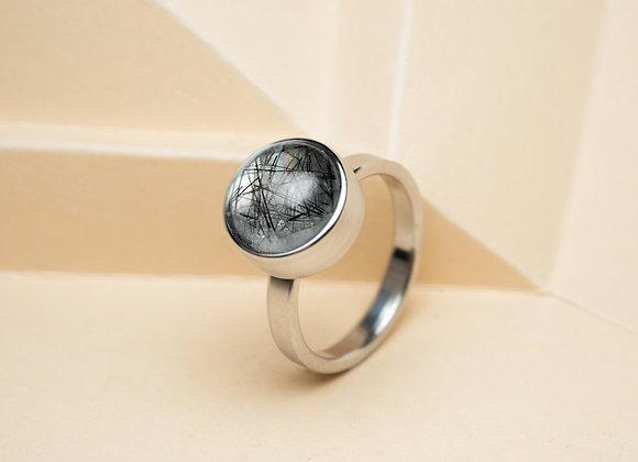 The Black Rutilated Quartz Ring