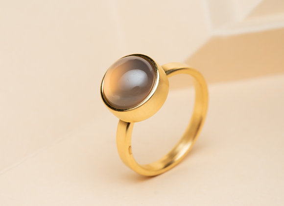 The Grey Moonstone Ring
