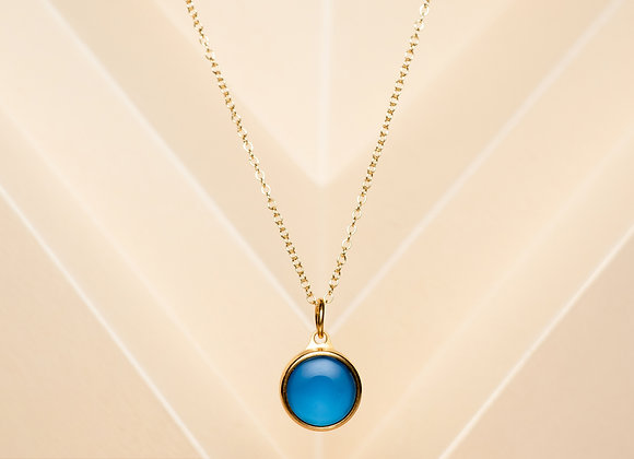 The Blue Agate Necklace