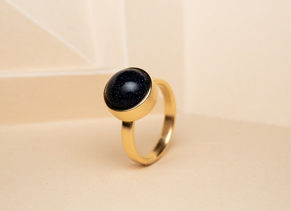 The Blue Goldstone Ring