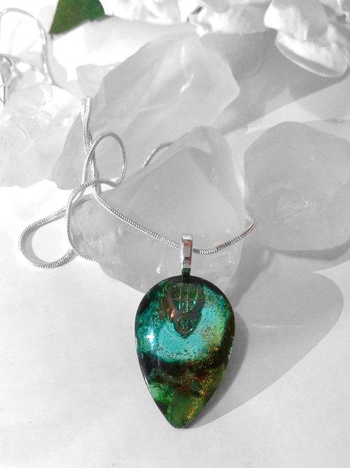 Glass Jewelry Pendant -Thalassophile 81