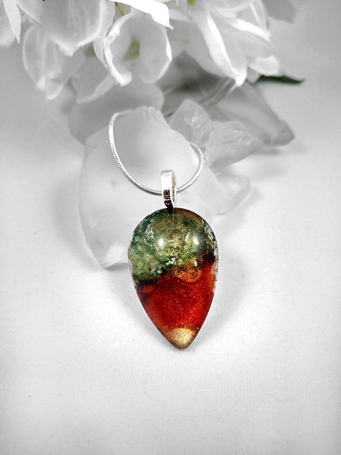 Glass Jewelry Pendant - Autumnal Bliss 100