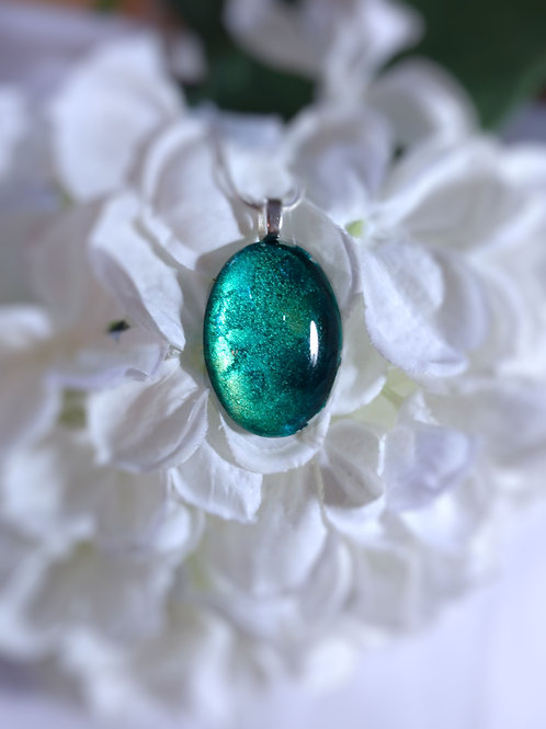 The Pace of Nature 158 -  Hand Painted Glass Jewelry Pendant