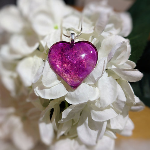 Love Story 141 - Hand Painted Glass Jewelry Pendant and Necklace