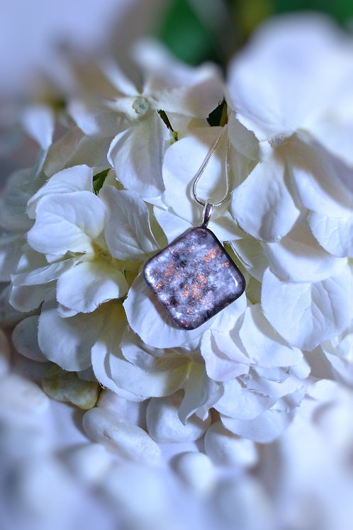 Night Dreams 228- Hand Painted Glass Jewelry Pendant and Necklace
