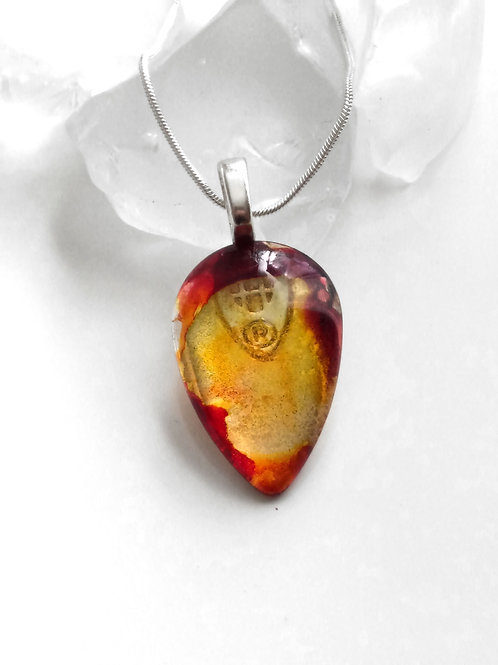 Glass Jewelry Pendant - Gold Nugget 23