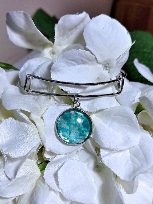 Magic B020 - Hand painted glass cabochon bracelet