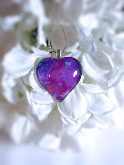 From Your Heart 146 - Hand Painted Glass Jewelry Pendant and Necklace