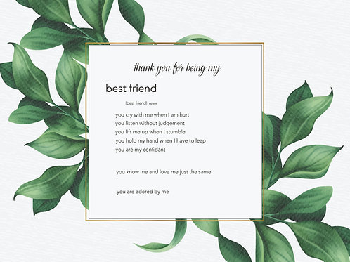 Inspirational Art, Quote - Best Friend