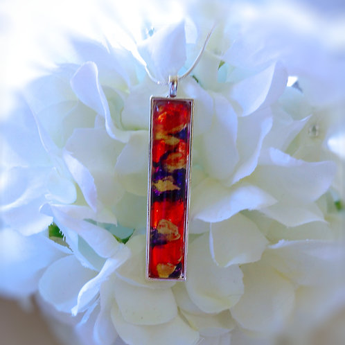 The Hottest Fire 273 - Hand Painted Glass Jewelry Pendant and Necklace