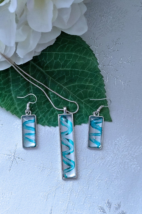 Life's Spirals 280 - Hand Painted Glass Jewelry Pendant and Necklace