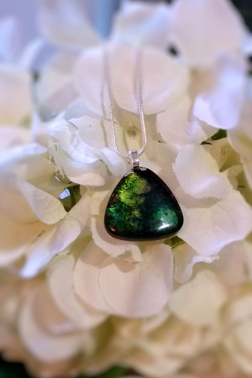 Nurture 179 - Hand Painted Glass Jewelry Pendant and Necklace