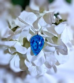Pendant 193 - Blue on Blue - jewelry des