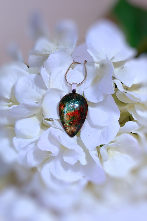 The Pathway 244 - Hand Painted Glass Jewelry Pendant and Necklace