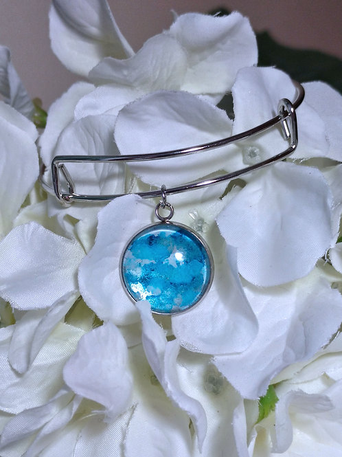 Dream Dream B013 - Hand painted glass cabochon bracelet
