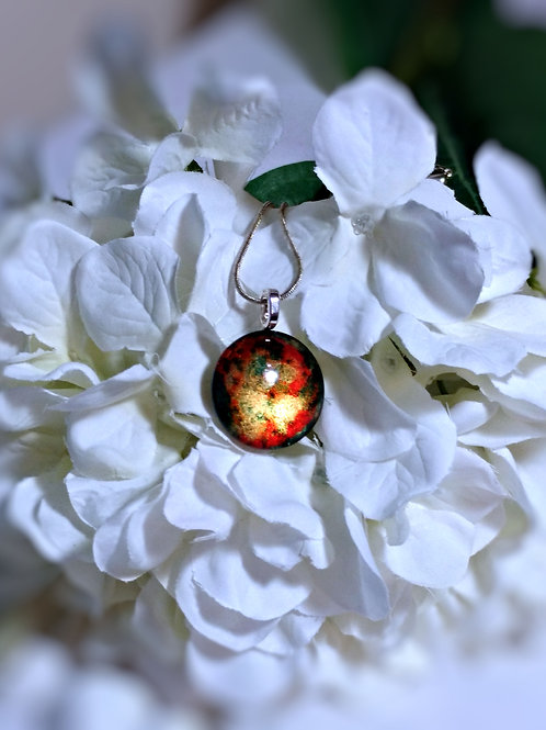 The Light Within 256 - Hand Painted Glass Jewelry Pendant and Necklace