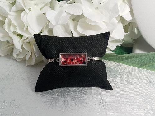 Proud B077 - Hand painted glass cabochon bracelet