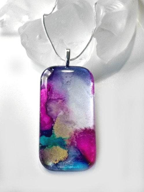 Glass Jewelry Pendant - Topaz Diversity 38