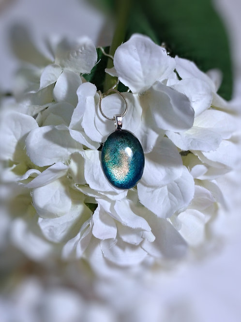Seas the Day 240 - Hand Painted Glass Jewelry Pendant and Necklace
