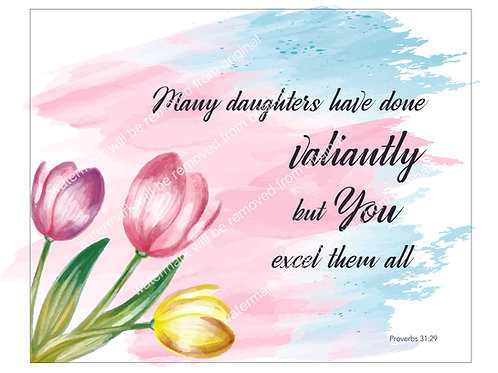 Inspirational Art, Quote - Many Daughters