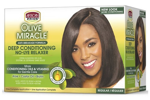 Olive Miracle Deep Conditioning No-Lye Relaxer Regular