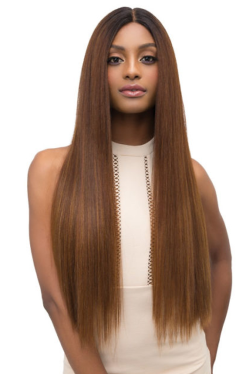 Extended Part Lace Leah Wig Color: Amber Red