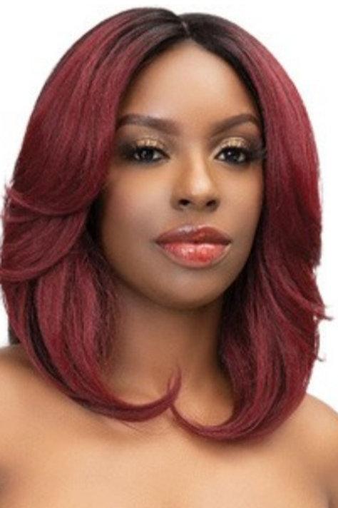 Natural Me Lace Lite Ayana Wig Color: DR1B/Aubrnblnd