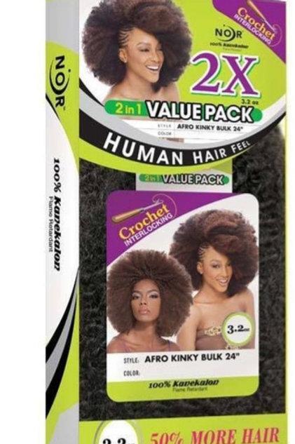 """2x Afro Kinky Bulk 24"""""""