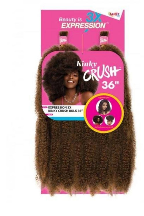 "Expression 3x Kinky Crush Bulk 36"" Color: M1B/30"