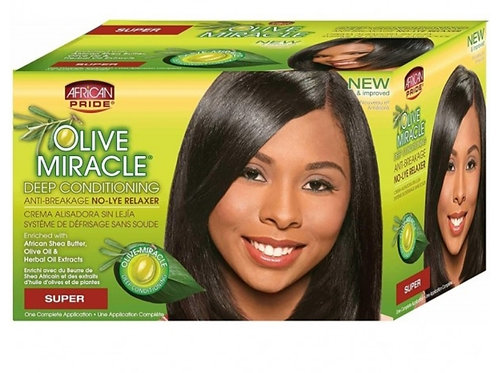 Olive Miracle Deep Conditioning No-Lye Relaxer Super